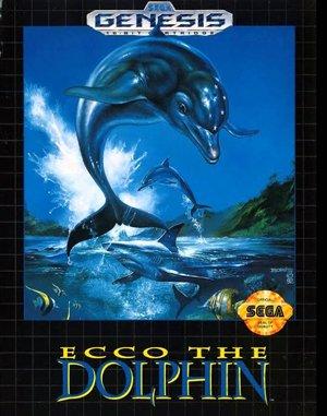 Ecco The Dolphin Sega Genesis front cover