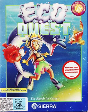 EcoQuest: The Search for Cetus DOS front cover