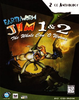 Earthworm Jim 2: The Whole Can O' Worms DOS front cover