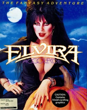 Elvira: Mistress of the Dark DOS front cover