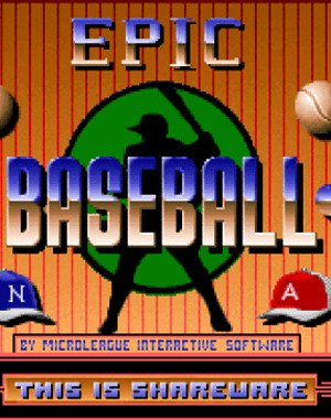 Epic Baseball DOS front cover