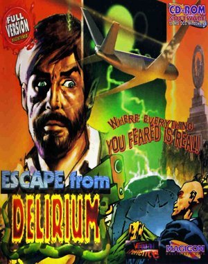 Escape from Delirium DOS front cover
