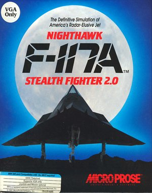 F-117A Nighthawk Stealth Fighter 2.0 DOS front cover
