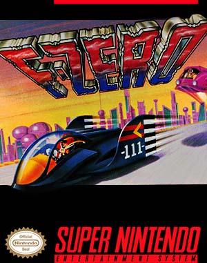 F-Zero SNES front cover