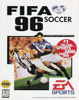 FIFA Soccer '96 DOS front cover