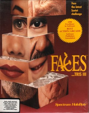 Faces …tris III DOS front cover