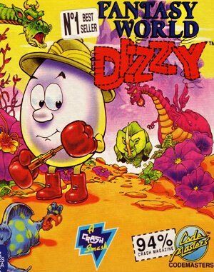 Fantasy World Dizzy DOS front cover