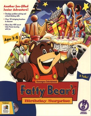 Fatty Bear's Birthday Surprise DOS front cover