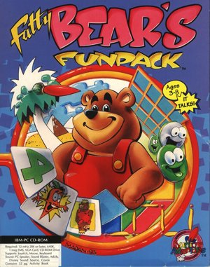 Fatty Bear's Funpack DOS front cover