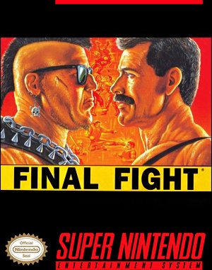 Final Fight SNES front cover