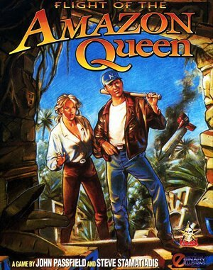 Flight of an Amazon Queen DOS front cover
