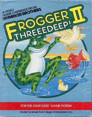 Frogger II: ThreeeDeep! DOS front cover