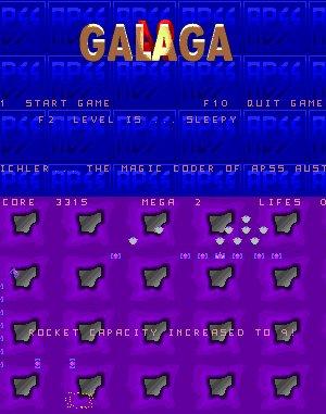 Galaga 94 DOS front cover