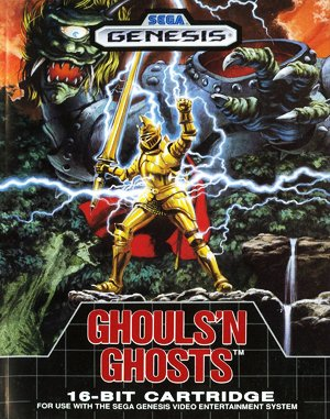 Ghouls 'N Ghosts Sega Genesis front cover
