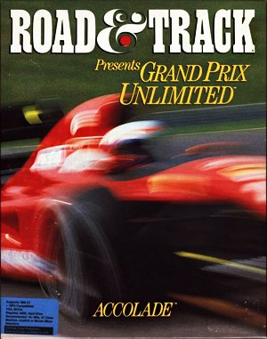 Grand Prix Unlimited DOS front cover