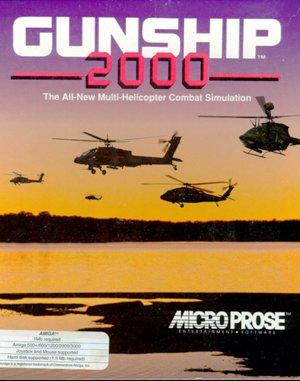 Gunship 2000 DOS front cover