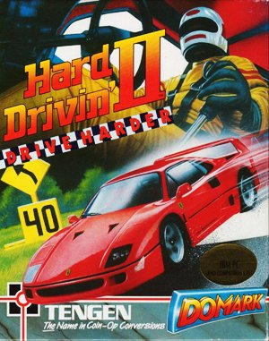 Hard Drivin' II DOS front cover