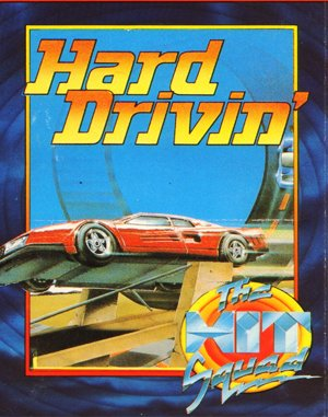 Hard Drivin' DOS front cover