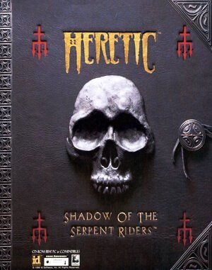 Heretic: Shadow of the Serpent Riders DOS front cover