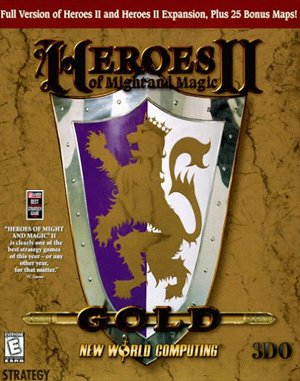 Heroes of Might and Magic II: Gold DOS front cover