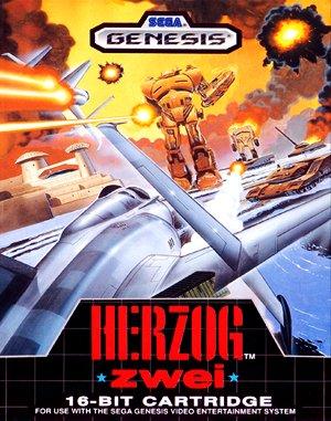 Herzog Zwei Sega Genesis front cover