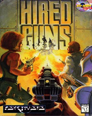 Hired Guns DOS front cover