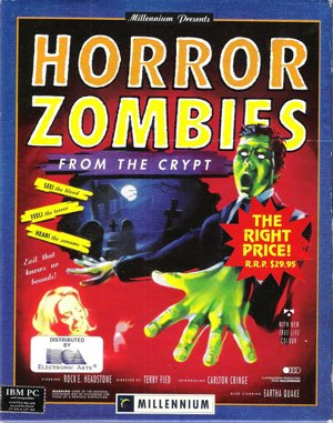 Horror Zombies from the Crypt DOS front cover