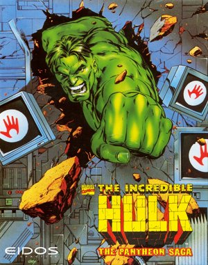 Incredible Hulk DOS front cover