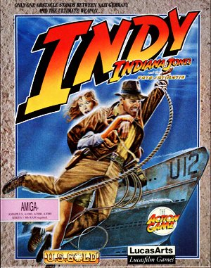 Indiana Jones and The Fate of Atlantis: The Action Game DOS front cover