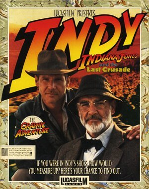 Indiana Jones and The Last Crusade DOS front cover