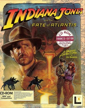 Indiana Jones and the Fate of Atlantis CD DOS front cover