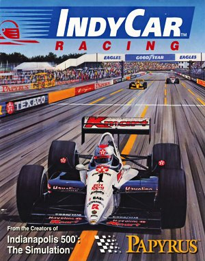 IndyCar Racing DOS front cover