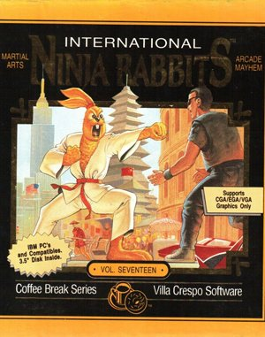 International Ninja Rabbits DOS front cover