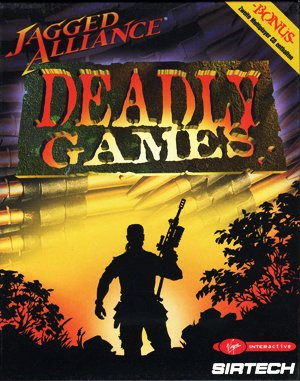 Jagged Alliance: Deadly Games DOS front cover