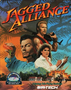 Jagged Alliance (CD) DOS front cover