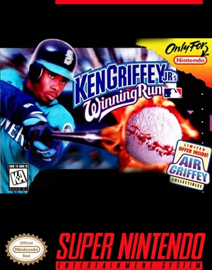 Ken Griffey Jr.'s Winning Run SNES front cover