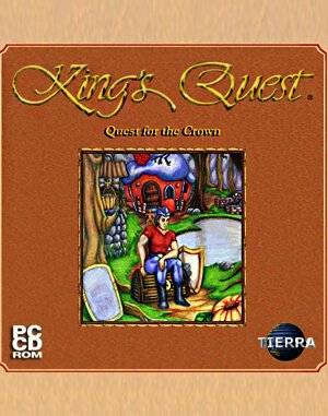 King's Quest I: Quest for the Crown VGA DOS front cover