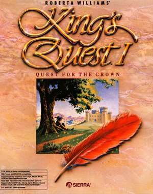 King's Quest I: Quest for the Crown DOS front cover