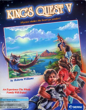 King's Quest V: Absence Makes the Heart Go Yonder! (talkie) DOS front cover