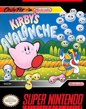 Kirby's Avalanche SNES front cover