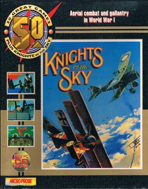 Knights of the Sky DOS front cover