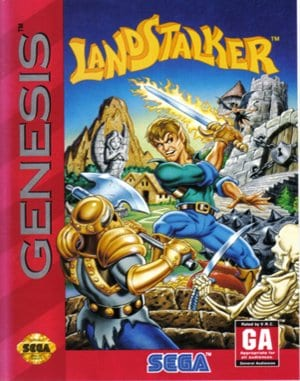 Landstalker: Treasure of King Nole Sega Genesis front cover