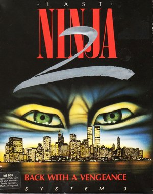 Last Ninja 2: Back with a Vengeance DOS front cover