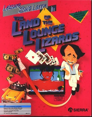 Leisure Suit Larry 1 In the Land of the Lounge Lizards DOS front cover