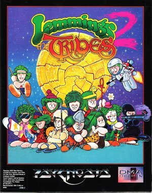 Lemmings 2 – The Tribes DOS front cover
