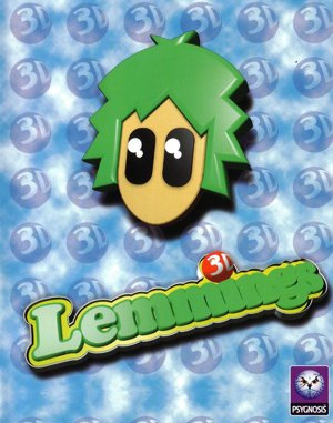 Lemmings 3D DOS front cover