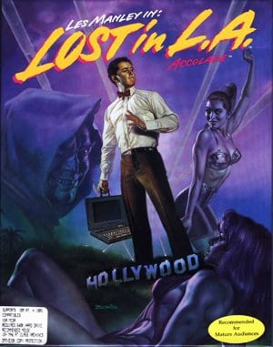 Les Manley in: Lost in L.A. DOS front cover