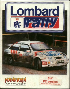 Lombard RAC Rally DOS front cover