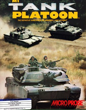 M1 Tank Platoona DOS front cover