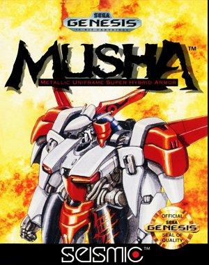 M.U.S.H.A Sega Genesis front cover